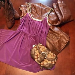 Dresses & Skirts - Purple Couture Dress w/Rainbow Straps